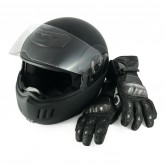 Motorcycle helmet & gloves